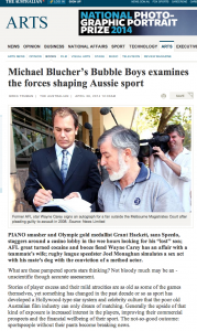 Michael Blucher's Bubble Boys in The Australian